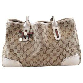 Gucci-Sac à main Gucci Sherry Line GG-Blanc