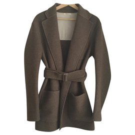 Céline-Coats, Outerwear-Brown
