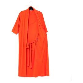 Hermès-CORAL RED FALSE 2 PIECES FR40-Coral