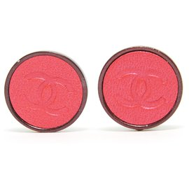Chanel-PINK LEATHER CC CLIPS-Rose