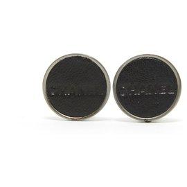 Chanel-BLACK LEATHER CC CLIPS-Noir