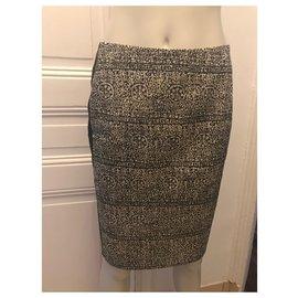 Balenciaga-Black and white skirt-Black,White