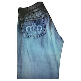 Autre Marque-Jeans bleach Watch Denim Studio-Bleu clair