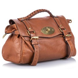 Mulberry-Mulberry Brown Leather Alexa Satchel-Brown