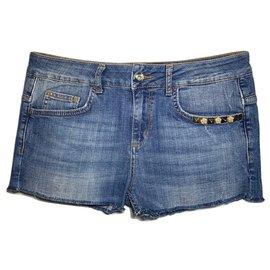 Liu.Jo-Fringed hotpants-Blue