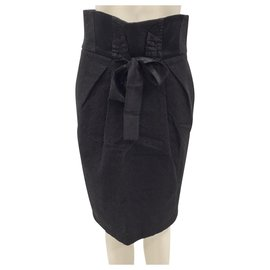 Antonio Marras-Black cotton skirt-Black