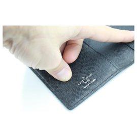 Louis Vuitton-Louis Vuitton Double Wallet in damier monogram-Dark grey