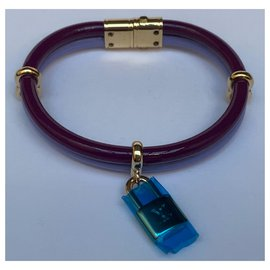 Louis Vuitton-Bracelet keep it twice neuf bordeaux et violet.-Bordeaux,Violet