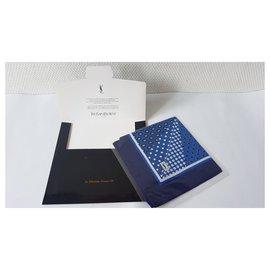 Yves Saint Laurent-Lenços dos homens-Azul