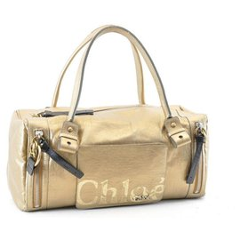 Chloé-Chloé Vintage Tote BAG-Golden