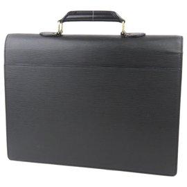 Louis Vuitton-Louis Vuitton Black Epi Serviette Ambassadeur-Black