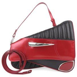 Dior-Sacoche de selle Dior Cadillac Noir-Noir,Rouge