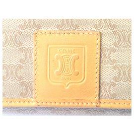 Céline-CELINE vintage wallet Macadam-Beige