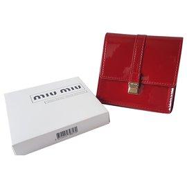 Miu Miu-Purses, wallets, cases-Dark red