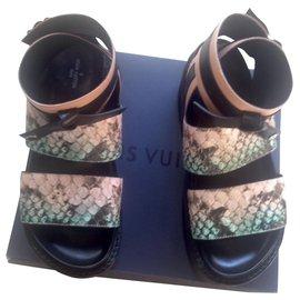 Louis Vuitton-Sandales à plateforme diva Vuitton Gamble-Multicolore