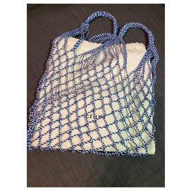 Céline-Celine Cotton Net Bag-Blue