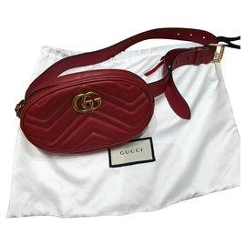 Gucci-Ceinture marmont-Rouge