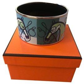 Hermès-Bracelet  émail Hermès Coup de Fouet-Vert