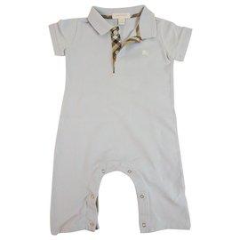 Burberry-Collier à carreaux polo bleu clair Burberry pour bébé 12 mois ou 80cm de hauteur-Bleu clair