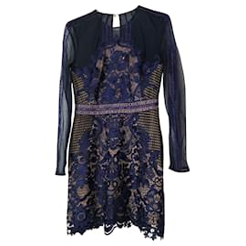 Self portrait-Lace cocktail dress-Dark blue