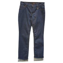 Louis Vuitton-Jean brut Louis VUITTON - taille 40 - pantalon denim-Bleu Marine