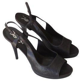 Yves Saint Laurent-Sandals-Dark brown