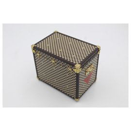 Louis Vuitton-Mini tronc Louis Vuitton collection petit étui à bijoux-Marron
