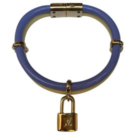 Louis Vuitton-Louis Vuitton, Bracelet keep it twice neuf jaune et violet-Violet,Jaune