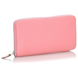 Hermès-Hermes Pink Epsom Azap Classic Wallet-Pink,Other