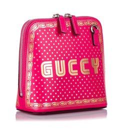 Gucci-Sac bandoulière Gucci Mini Guccy rose-Rose