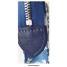 Louis Vuitton-Pochettes-Bleu foncé