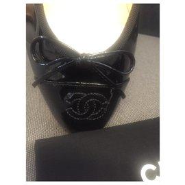 Chanel-Patent flats Chanel-Black