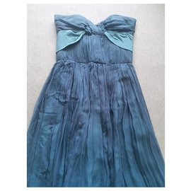 Chloé-Chloe blue silk dress FR34-Blue