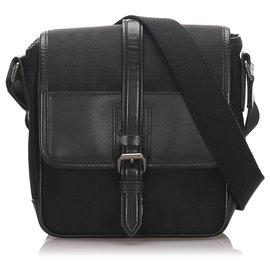 Burberry-Burberry Black Canvas Crossbody Bag-Black
