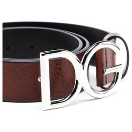 Dolce & Gabbana-DG Gürtel neu-Braun