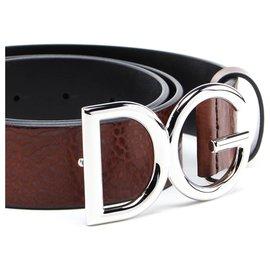 Dolce & Gabbana-DG Belt new-Brown