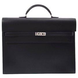 Hermès-Hermès Kelly Depeche 38-Black