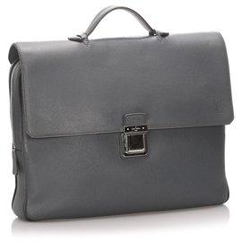 Louis Vuitton-Louis Vuitton Gray Taiga Vassili PM-Grey
