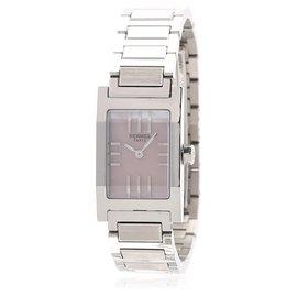 Hermès-Hermes Silver Tandem Acier inoxydable Quartz Ta1.210-Argenté
