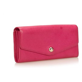 Mulberry-Mulberry Pink Leather Long Wallet-Pink