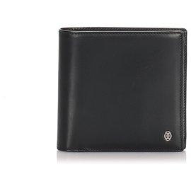 Cartier-Cartier Black Leather Bi-Fold Wallet-Black