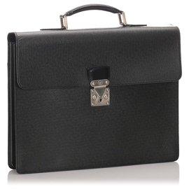 Louis Vuitton-Louis Vuitton Serviette Kourad Serviette Taïga Noire-Noir