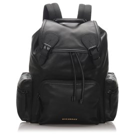 Burberry-Burberry Black Runway Leather Backpack-Black