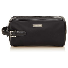 Burberry-Burberry Black Nylon Clutch Bag-Black