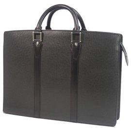 Louis Vuitton-Louis Vuitton Black Taiga Lozan Briefcase-Black