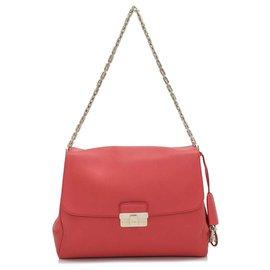 Dior-Sac porté épaule Diorling en cuir rouge Dior-Rouge