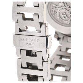 Hermès-Hermes Silver Clipper Acier inoxydable Quartz CL1.310-Argenté,Bleu