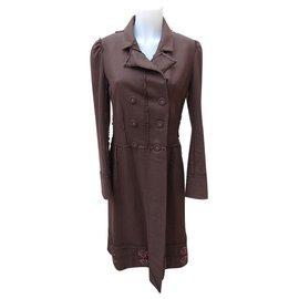 Dior-Manteaux, Vêtements d'extérieur-Marron