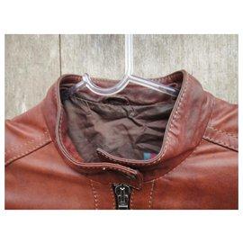 Gucci-blouson de cuir Gucci t 38-Marron clair
