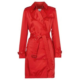 Burberry-Burberry trench coat new-Red